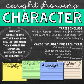 Character Education Recognition Slips