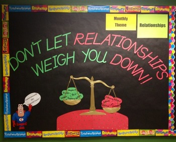 Character Education: Relationships bulletin board idea