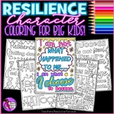 Character Education Values on Resilience - Quote Coloring Sheets and Pages