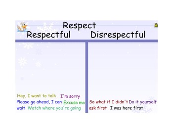 Character Education SmartBoard - Respect