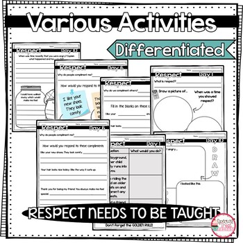 Character Education Activities on Respect for Morning Meetings
