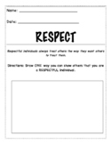 Character Education: Respect Worksheet