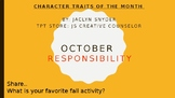 Character Education - Responsibility