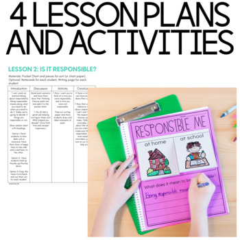 Character Education: Responsibility  {Lesson Plans and Activities}