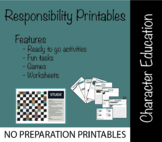 Character Education: Responsibility Printables