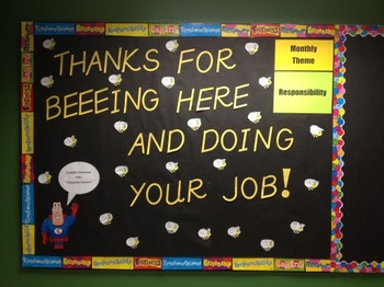 Character Education: Responsibility bulletin board idea