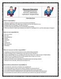 Character Education: Responsibility books, activities, video clips, worksheets