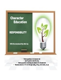 Character Education:  Responsibility with My Little Car story book