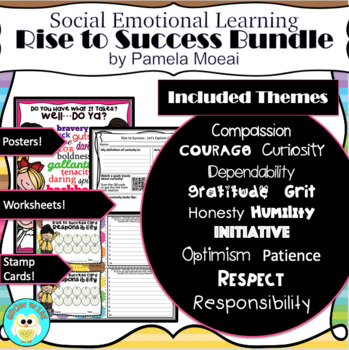 SEL Character Education:  Rise to Success Bundle