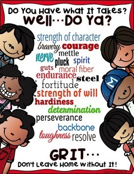 "SEL Character Education!  Rise to Success ""Grit""!"
