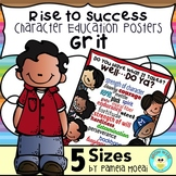 """SEL Character Education!  Rise to Success """"Grit""""!"""