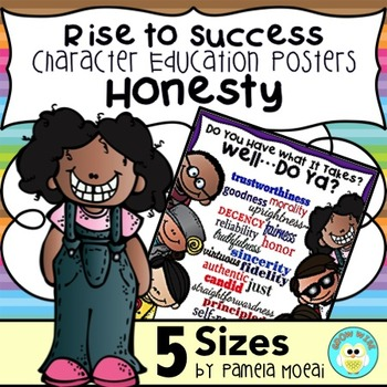 """SEL Character Education:  Rise to Success """"Honesty"""""""