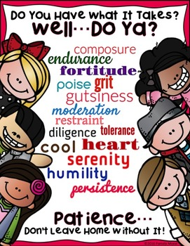 """SEL Character Education:  Rise to Success """"Patience"""""""