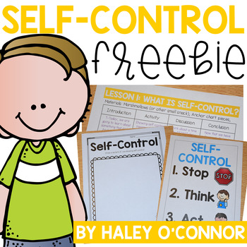 Character Education: Self Control Lesson and Printables