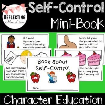 Self-Control Reader Mini Book Character Education