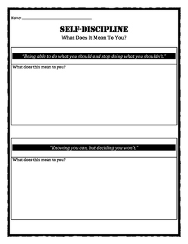 Character Education: Self-Discipline quotes and meanings