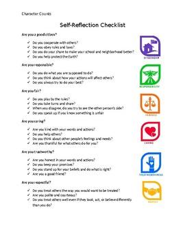 Character Education-SelfReflection