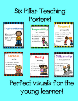 Character Education/Six Pillars of Character Posters and Coloring