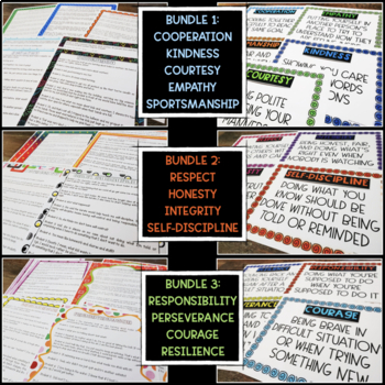 Character Education Skits LARGE BUNDLE (23 TRAITS)