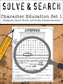 Character Education Solve and Search Set 1