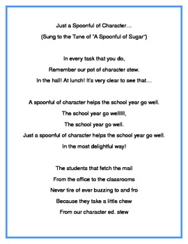 Character Education Song