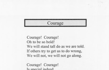 Character Education Song Kit COURAGE