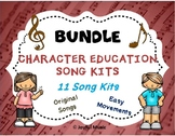 Distance Learning Character Education Song Kit BUNDLE 11 SONG KITS
