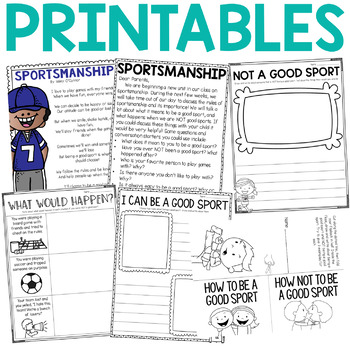 Character Education: Sportsmanship {Lesson Plans and Activities}