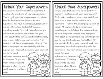 Character Education:  Superheroes Vs. Villains
