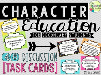 Character Education Task Cards [Secondary]