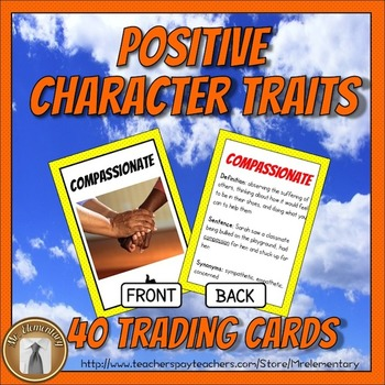 Character Education Trading Cards