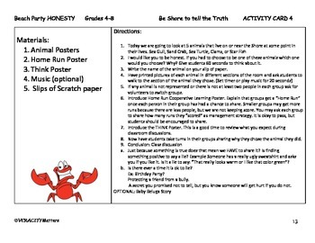 Character Education Truthfulness (Beach Party)