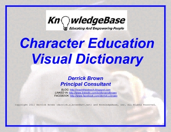 Character Education Visual Dictionary (FULL VERSION)