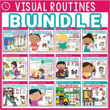 Character Education Visual Routine Bundle EDITABLE
