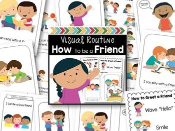 Character Education Visual Routine Bundle Preschool