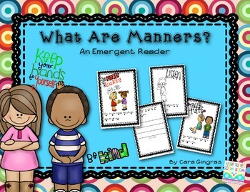 "Character Education - ""What Are Manners"" Emergent Reader {K/1}"