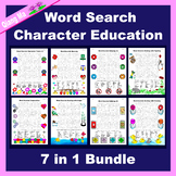 Character Education Word Search: Character Education 7 in 1
