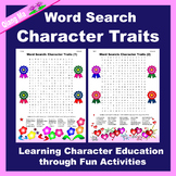 Character Education Word Search: Character Traits