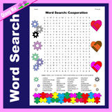 Character Education Word Search: Cooperation