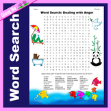 Character Education Word Search: Dealing with Anger