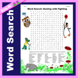 Character Education Word Search: Dealing with Fighting