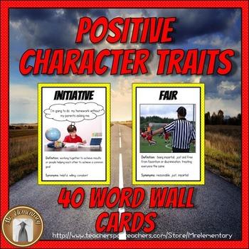 Character Education Word Wall