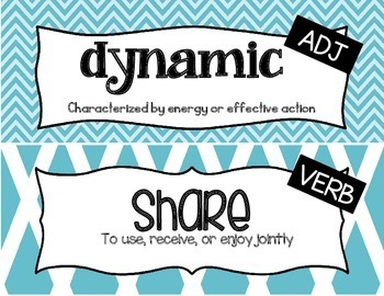 Character Education Word Wall Cards-Set 2