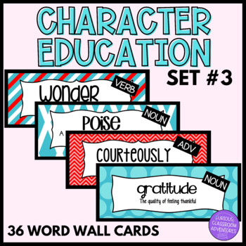 Character Education Word Wall Cards-Set 3