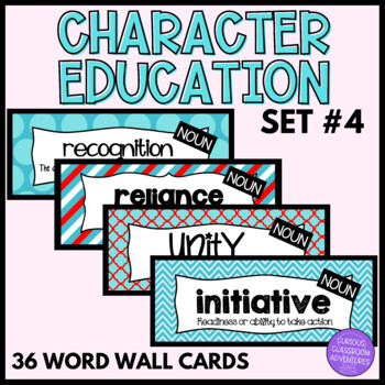Character Education Word Wall Cards-Set 4