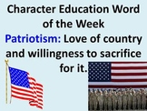 Character Education Words for the Entire School Year