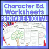 Character Education Worksheets - Includes Google Slides Fo