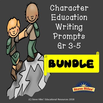 Character Education Writing Prompt Bundle