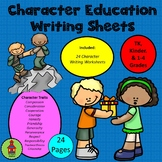 Character Education Writing Worksheets