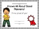 Character Education about MANNERS with Emergent Readers